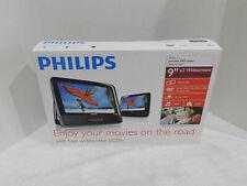 "Philips PD9012P/17 Portable DVD Player Dual Screen 9"" x2 Widescreen"