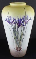 Royal Haeger Artware Vase Pottery Kate Nessler Botanical Art Watercolor Iris