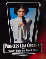 Princess Leia Organa With Laser Pistol Red Orange Card POTF 2 Star Wars 1995