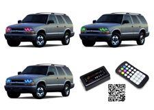 for Chevrolet Blazer 98-04 RGB Multi Color Bluetooth LED Halo kit for Headlights