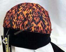 Schampa Z-Wrap Headwrap Doo Rag Stretchy Flame Design Micro-Fiber NWT 1020
