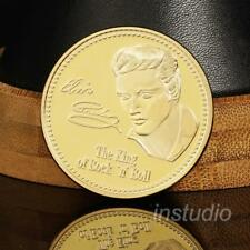 Elvis Presley Gold Color Coin Music Gift Collection Commemorative Collectible