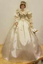 Franklin Mint Princess Diana Doll Porcelain Wedding/Bride Doll.