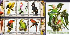 Congo * Birds, Parrots, Corn * M/S + Stamp set MNH
