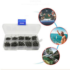 New 500Pcs Fishing Jig Barbed Hooks With Box 3# 4# 5# 6# 7# 8# 9# 10# 11# 12#