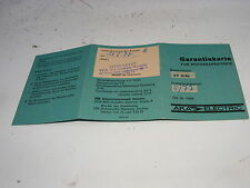 GDR Warranty Card for Motorcycle Battery 6V 12AH aka Electric