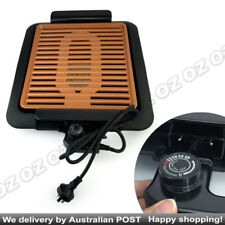 Non Stick COPPER PRO Smokeless   Barbeque Griddle Electric BBQ Teppanyaki Grill