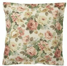 "Pottery Barn Rita Floral Euro Pillow Sham ~ 26"" ~ Floral ~ Linen Blend ~ Vintage"