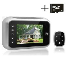 Front Door Camera Digital Peephole Video Night Vision Viewer Photos LCD Record