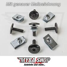 5x Metall Torx Bund-Schraube + Haltemutter Klemme Jeep Audi Chrysler VW Ford