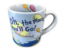 Dr. Seuss Oh, The Places You'll Go! Mug Cup Graduation Teacher Book Travel Blue