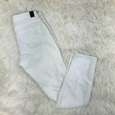 Vince 5 Pocket Ankle Skinny Jeans Size 25 Descructed White Distressed Jeans