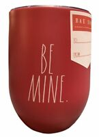 """Rae Dunn """"BE MINE"""" Valentine's Day Gift Wine Tumbler Red Insulated Travel NEW!"""