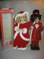 """Vintage 24"""" Christmas Animated VICTORIAN BOY & GIRL Motionette Lighted Telco"""