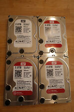"Lot of 4 Western Digital Red 2 TB, Internal, 5400 RPM, 64MB Cache, 3.5"" WD20EFRX"