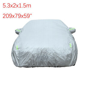 """For Sedan Outdoor Car Cover Waterproof Sun Rain Snow All Weather Protection 209"""""""