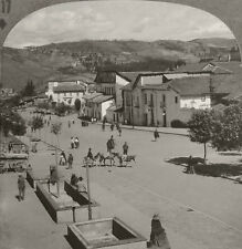 Keystone Stereoview a Street in Quito, ECUADOR From the RARE 1200 Card Set # 117