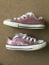Converse Pink Glitter, Girls Trainers, UK 13, Excellent Condition