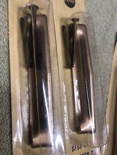 4 COUNT  Pella Double hung sash lift Color Royal Bronze Metal Sealed W/screws
