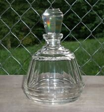 New listing Vtg Decanter Heavy Paneled Glass Clear 1/2 L Liquor Polished Stopper Baccarat?