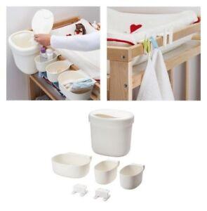 IKEA 6-Piece Baby Change Table Nappy Baskets Caddy Organiser Storage Holder Set