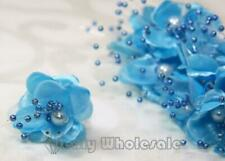 Organza and Satin Flower with Pearl Spray Turquoise(72 Flowers)