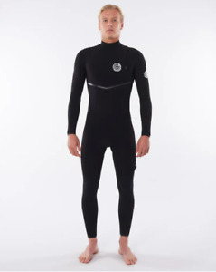 New Rip Curl Mens E-Bomb 4/3 Zip Free Wetsuit Black RRP$499.99 Free Postage