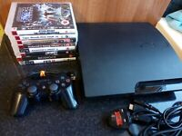 Sony PlayStation 3 PS3 Slim 160GB Console Bundle - 8 Games CECH 3003A - Tested