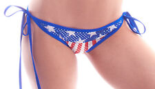 BodyZone Apparel American Flag Tie Side Scrunch Butt Shorts. Made in the USA.