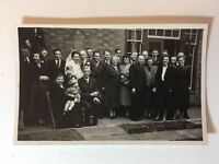 Vintage Real Photograph - #N - Wedding - Large Group Photo