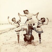 Bathing Beauties, CONEY ISLAND 1897 New York Risque Vintage Photo Reprint