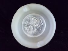 Vintage Mid~Century BLENKO Small frosted Pisces double Fish  Ashtray Satin Glass