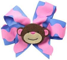 Mud Pie Baby Girl Toddler Safari Detachable Clip Hair Bow Monkey 1512043