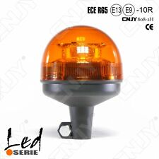 GYROPHARE E9 LED 8HP 12V-24V SUR MAT RIGIDE IP56 ORANGE HOMOLOGUE ROUTE