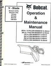 BOBCAT V-BLADE VARIOUS SIZES OPERATION & MAINTENANCE  MANUAL