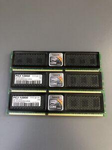 Lot(3) 2GB OCZ Intel XMP Edition PC3-12800 Desktop Memory tot 6GB OCZ3X1600LV6GK