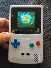 Backlit IPS White Mario Glass Lens Gameboy Color Nintendo GBC Refurbished NES