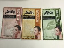 (3) AbeIia Korean Face Mask - COLLAGEN, ROYAL JELLY & GREEN TEA