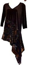 plus sz XXS 12 TS TAKING SHAPE Velvet Magic Carpet  Tunic Top  NWT! RRP $200
