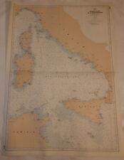 Carte marine: Bassin ouest de la méditerranée.