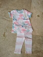 Bnwt French Connection Cloud Print Tunic Top & Leggings Set 0-3 Months