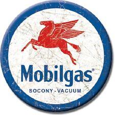 """3"""" ROUND MOBIL GAS SOCONY VACUUM PEGASUS REFRIGERATOR MAGNET NEW"""