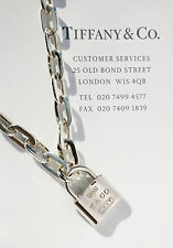 Tiffany & Co Plata 1837 7.5 pulgadas Enlace Oval Candado pulsera