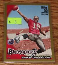 2010 Topps GOLD Football Card #44 Mike Williams 0500/2010 Rookie RC *A2