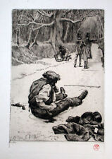 Orig. Renee Mauperin Etching by James Jacques TISSOT Stamp Signed