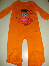 SESAME STREET / MUPPETS FOZZIE BEAR FOOTED ROMPER NWTS 24 month