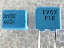 5 condensateurs 2200pF 2,2nF 630V 3,5% Evox Rifa PFR5