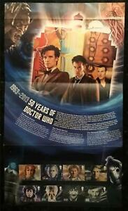 Dr Who Set of Royal Mail Mint Stamps. 50 Year Anniversary 1963-2013 (15 Stamps).