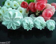 4 Moules Gateaux Emporte Piece Marguerite Pate d'Amande Pate a Sucre Cake Design