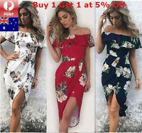 Women Boho Maxi Dress Beach Floral Long Sundress Summer Evening Party Cocktail